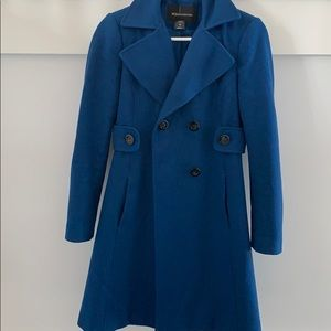 Moda international women's  blue wool coat